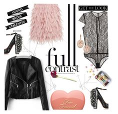 """""""Full contrast"""" by tuilindo ❤ liked on Polyvore featuring DKNY, Kiki de Montparnasse, Rochas and Kevin Jewelers"""