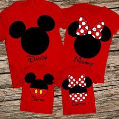 Disney Family Shirts, Family disney world shirts, Matching Family Disney Shirts, Personalized Disney Festa Mickey Baby, Mickey Mouse 1st Birthday, Mickey Party, Minnie Mouse Party, Mickey Mouse Outfit, Mickey Head, Matching Disney Shirts, Disney Shirts For Family, Disney Familie