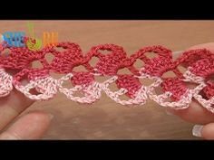 How to Crochet Lace Ribbon Stripe Tutorial 18 Crochet Tape