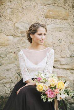 Final sale M size only // Dark chocolate boho wedding dress
