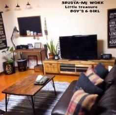 女性で、、家族住まいの黒板 DIY/北海道田舎組/男前 インテリア/アストロプロダクツ/バスロールサイン…などについてのインテリア実例を紹介。