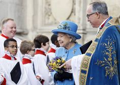 The Queen attends the #CommonwealthDay service at Westminster Abbey. © Press Association