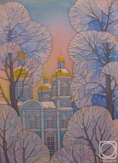 Новикова Ирина. Иней Winter Images, Silk Painting, Children's Book Illustration, Conceptual Art, Teaching Art, Art History, Folk Art, Art For Kids, Art Projects