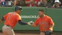 MLB Videos (7/5/2015): Carlos Javier Correa's (Houston Astros) 7th HR (2-R HR) of 2015 Season (7th MLB Career HR) @ Fenway Park, Boston Red Sox.
