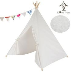 LoveTree Children India Teepee-White Lace Style