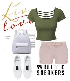 """white sneakers"" by masayuki4499 ❤ liked on Polyvore featuring Pierre Hardy, LE3NO and Dorothy Perkins"