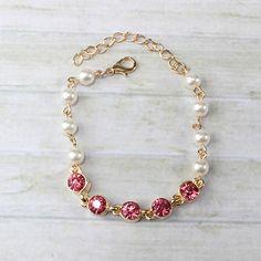 Gem Accent & Pearl Bracelet