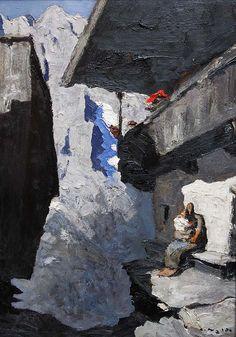 Isle Adam, Modern Art, Painting, Avril, Bergen, Composition, Sport, Snow, Paintings