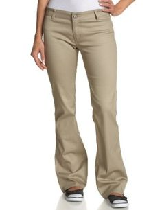 Dickies Girls Juniors' Stretch Twill 2 Back Pockets Pant # N882- School Uniform