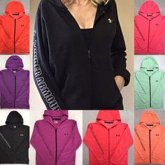 NEW Women's UNDER ARMOUR Full Zip Hoodie Sweatshirt Jacket Coat Sweater S,M,L,XL #UnderArmour #Hoodie