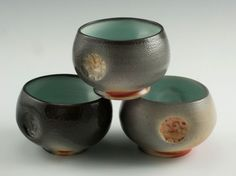 Medalta Tea Bowls-2011 by Paula Cooley.