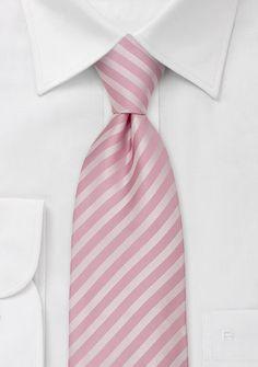 Pink NecktiesSolid Pink Striped Tie