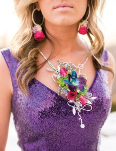 Floral jewelry for prom! Photo Courtesy: Manda Renee Photography