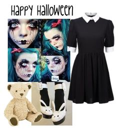 """Happy Halloween!"" by xdemonicx ❤ liked on Polyvore featuring Jellycat"