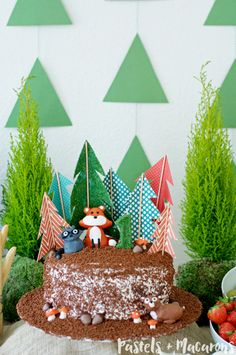 Woodlands Forest Cake Toppers by Pastels & Macarons