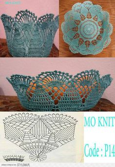 How to Crochet a Solid Granny Square Crochet Bowl, Crochet Basket Pattern, Crochet Flower Patterns, Crochet Stitches Patterns, Crochet Art, Thread Crochet, Crochet Gifts, Crochet Motif, Crochet Designs