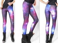 Our elegant and beautiful galaxy leggings are made from an extremely comfortable and durable polyester and spandex blend of materials. Perfect for the gym or casual use. 88% polyester 12% spandex Tigh