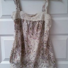 Hippie tank Hippie tank top that ties in the back.  Gently used, broken-in soft. Tops Camisoles