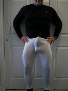 Excited about my white spandex leggings.... #spandex #cock #bulge Ballet Photography, Underwear, Lingerie