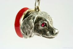 Fine Victorian Silver Dog Fob, French, mid-1800s from metierparis on Ruby Lane