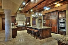 Great kitchen. Home. Kitchen idea. Home idea. Open kitchen. Kitchen island. Built ins. Island in kitchen. Breakfast bar. Island. Cabinets. Storage. Sink in island. Walk-in pantry.