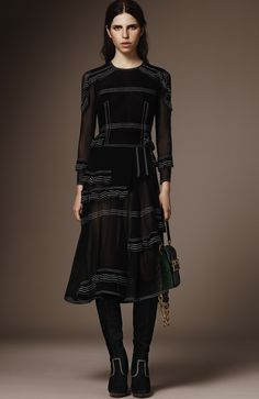 Burberry Pre-Fall 2016 Collection Photos - Vogue - this dress would be nice with a black slip under it :)