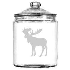 Moose Canister Sand Carved  Great for Flour by WulfCreekDesigns, $34.99
