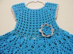 Vestido Olanes para Niña Crochet parte 1 de 3