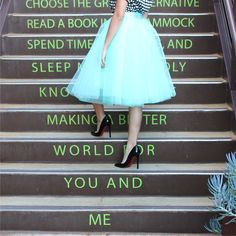 Mint tulle skirt from Space 46