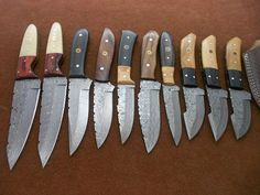 Custom Made skinning Knives lot of 9