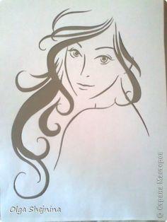 Картина, панно, рисунок Вырезание, Вытынанка: Леди Бумага. Фото 3