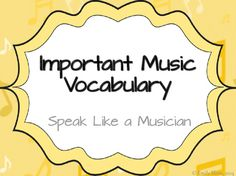 Musical Vocabulary with Spanish Translations Anchor Chart Music Anchor Charts, Translate To Spanish, Learner's Dictionary, Ell Students, Spanish Words, Vocabulary Cards, Musicals, Musical Theatre