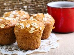 Zucchini for breakfast? Start your day off by packing extra nutrition with these 15 zucchini breakfast ideas. Protein Muffins, Healthy Muffins, Sweet Desserts, Dessert Recipes, Zucchini Breakfast, Banana And Egg, Food Processor Recipes, Good Food, Food And Drink