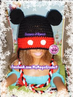 Mickey Mouse Crochet Hat https://www.etsy.com/your/shops/MyMagicCrochetUS