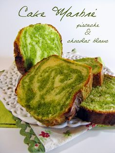 J'en reprendrai bien un bout...: Cake Marbré Pistache Chocolat Blanc