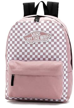 backpacks The Realm Checks Backpack is a polyester two-pocket backpack featuring a zippered main compartment with an interior laptop sleeve, a front pocket with organization, and Vans School Bags, Cute School Bags, Vans Bags, Best School Bags, Cute Backpacks For School, Cute Mini Backpacks, College Backpacks, Nike School Backpacks, Cool Backpacks For Girls