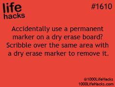 Dry erase board fix