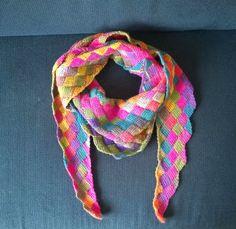 Foto tunisian entrelac crochet