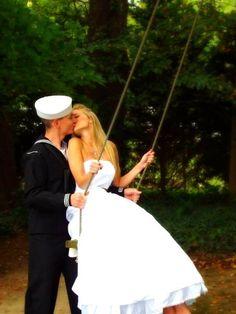 wedding photo. Minus navy add air force