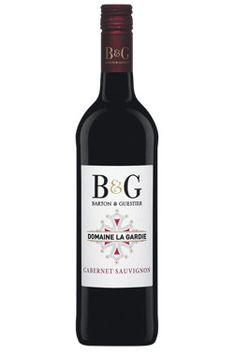 B & G Reserve Domaine de la Gardie Cabernet Sauvignon Cabernet Sauvignon, Obstacles, Red Wine, Alcoholic Drinks, Roses, Bottle, Glass, Red Wines, Pink