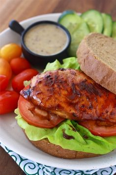 Honey Glazed Chicken Sandwich by Season with Spice