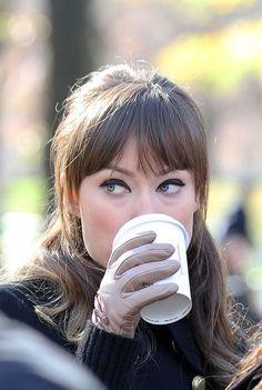 "Olivia Wilde  beautiful black liner filming scenes for ""The Longest Week"" in Central Park, New York. Last Dec 2011  (December 1, 2011 - Source: PacificCoastNews.com)"