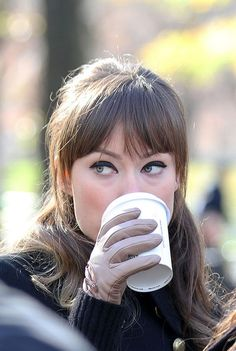 "Olivia Wilde beautiful black liner filming scenes for ""The Longest Week"" in Central Park, New York. Last Dec 2011 (December 1, 2011 - Source: PacificCoastNews.com)"