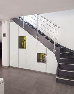 Placard sous escalier sur mesure paris nantes vannes - Meuble escalier 6 cases ...