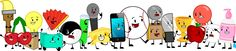 Paintbrush, Cherries, Lightbulb, Box, Tissues, Fan, Yin-Yang, Test Tube, Microphone, Cheesy, MePhone, Baseball, Nickel, Suitcase, Knife, Trophy, Apple, Balloon, Marshmallow, Soap! :3