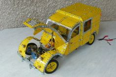 Citroën Fourgonnette by Meccano Jeep Willys, Harley Davidson, Hobby Toys, Miniatures, Scale Models, Vintage Toys, Automobile, Lego, Engineering