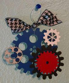 Gear Christmas Ornament by GingerbreadDreams4U on Etsy
