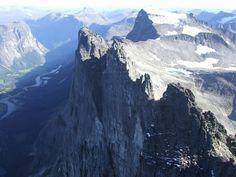 Norway's Trollveggen (Troll Wall), highest vertical mountain wall in Europe. Trolls > Sauron