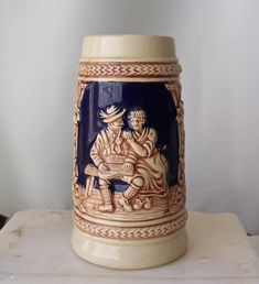 Vintage Beer Mug Germany Pictorial Home Family Church