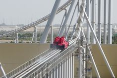 Formula Rossa - fastest roller coaster in the world - so fast, safety goggles are required!